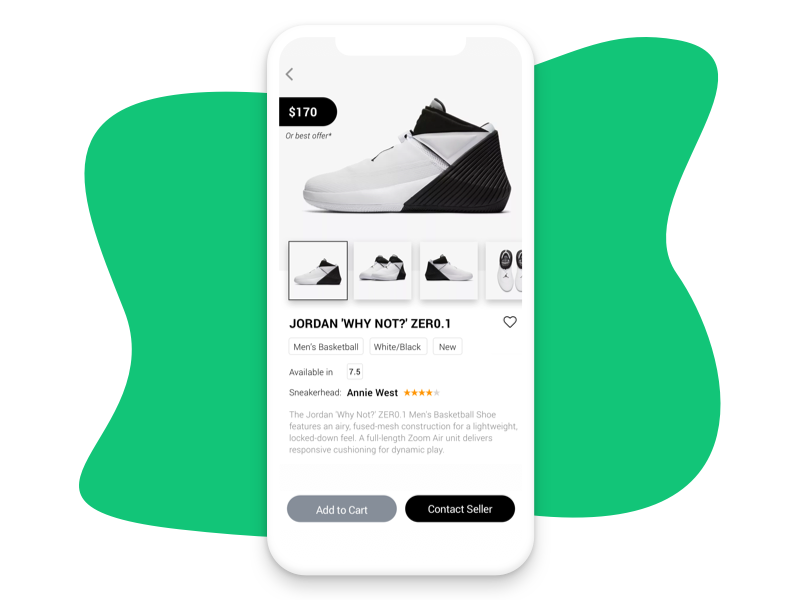 Sneakerheads App marketplace shoes wireframe high fidelity minimalist concept mvp air jordan collection sneakers