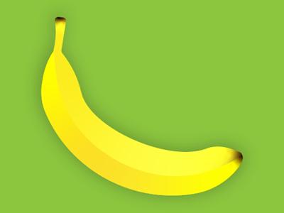 Banana illustrator illustration fruit life still yellow banana