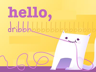 Hey dribbble hey dribbble illustration vector