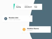 Client management app - Snippets