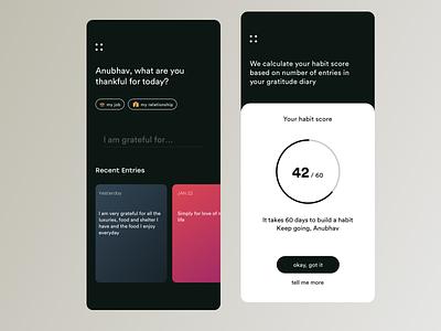 Sprinkle - The Gratitude App typography ui  ux ui design ui  ux design minimal app design design ux ui app