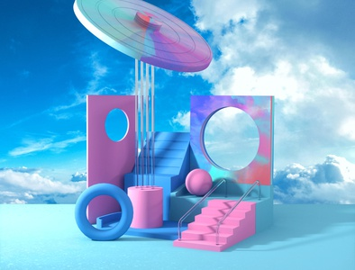 Day 16: Sleep Forever composition abstract graphic design illustration 3d art 3d