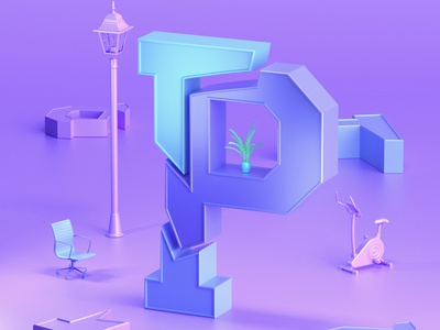 P #36daysoftype abstract graphicdesign graphic designer 3d artist designer illustration 3d illustration design 3d art graphic design 3d