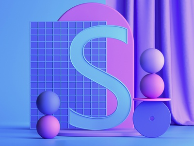S #36daysoftype abstract illustration designer 3d illustration graphic designer graphic design 3d artist 3d art 3d