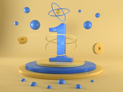 1 #36daysoftype 3d illustration illustration illustrator graphic design 3d artist 3d art 3d