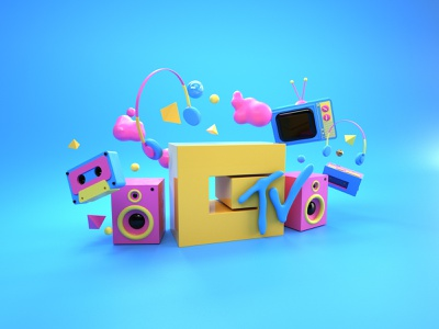 MTV graphicdesign graphic designer 3d artist illustration design designer 3d illustration 3d art graphic design 3d