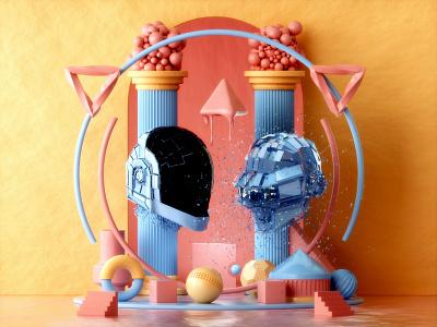 Daft Punk: Human After All graphicdesign graphic designer 3d artist illustration design designer 3d illustration 3d art graphic design 3d