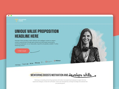 Unbounce Landing Page For B2C Mentoring Startup