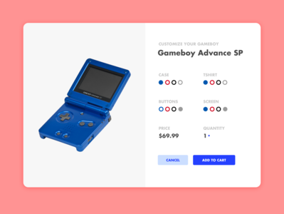 Daily UI Challenge 33/100 - Product Customizer