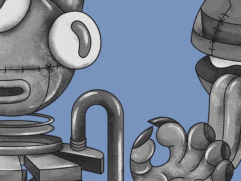 ++ robot vector web illustration design