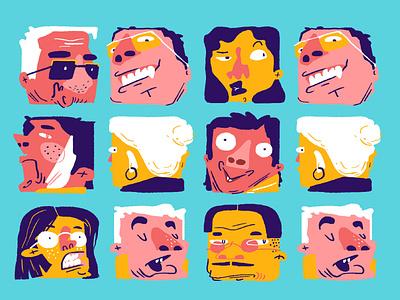 ++ face smile icon funny flat vector web illustration design