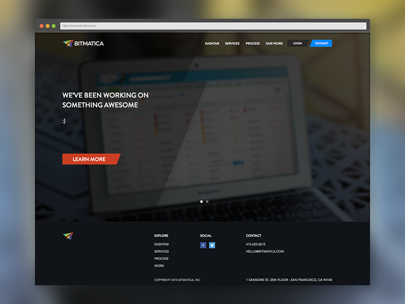 Landing Page for Bitmatica landing page bitmatica web design home flat layout ui ux visual html5