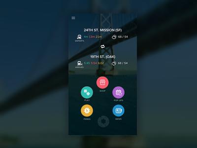 BLINQ iOS Home Screen ios apple iphone menu flat transit sf bart muni
