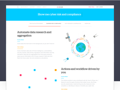 Corax / Cyber Risk & Compliance minimal website animated security cyber corax