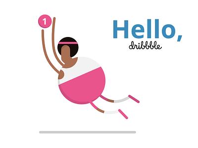 Hello Dribbble hello dribbble gravit illustration flat debut dribbble hello