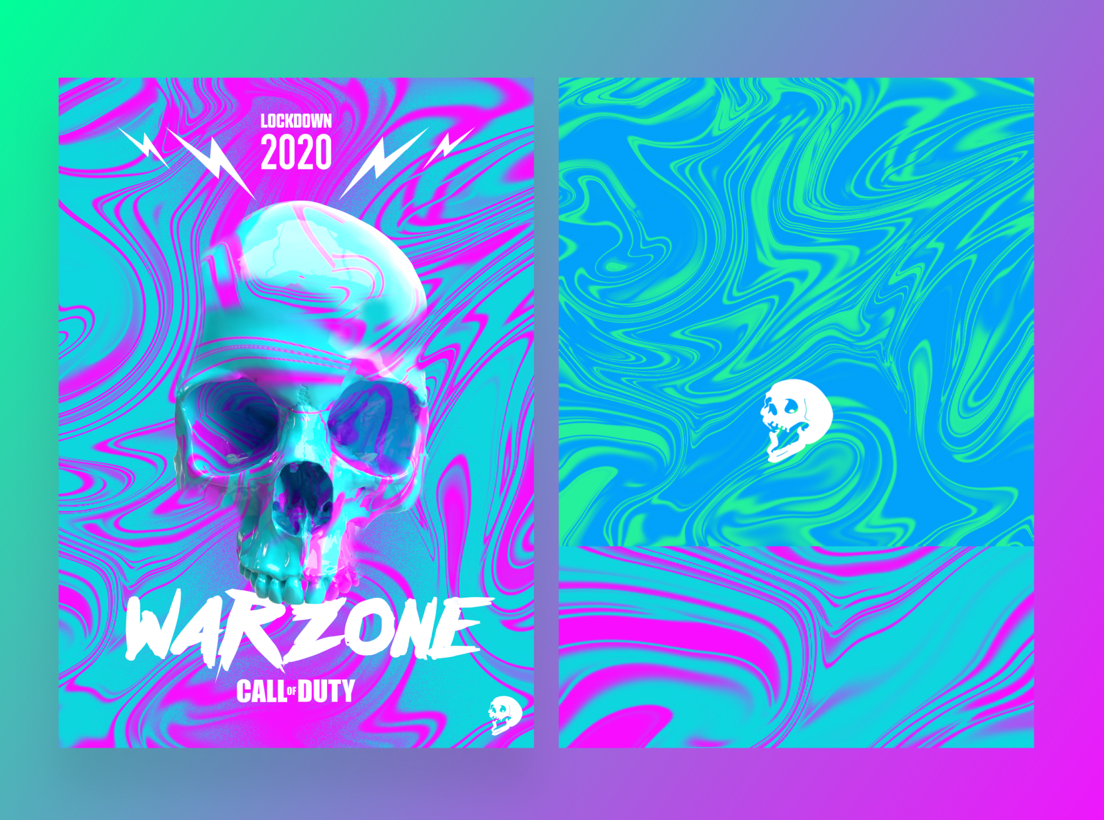 Call Of Duty Warzone Acid Wave Camo By Christopher Richards On Dribbble