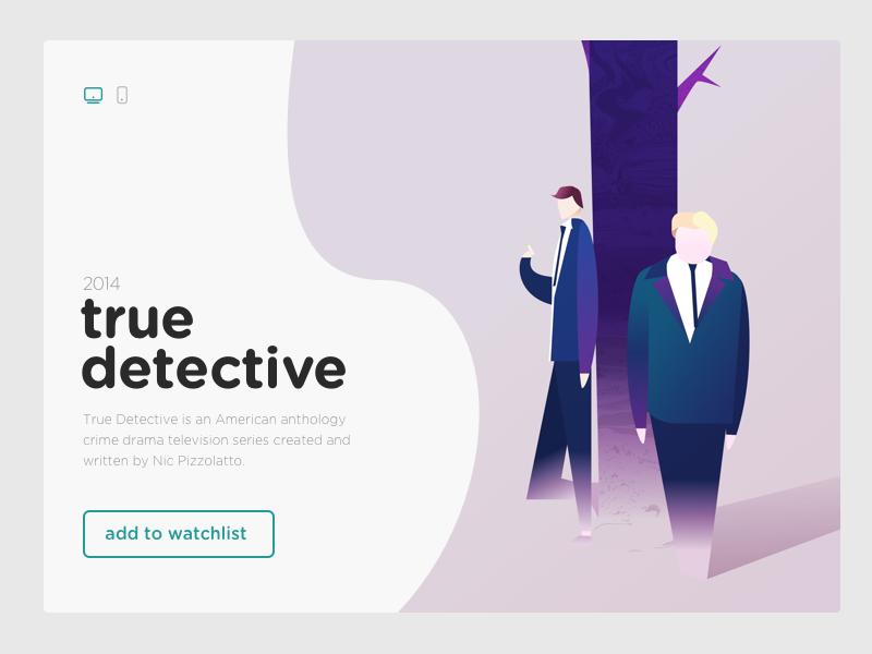 UI and illustration for True Detective abstract digital illustration ux design ui