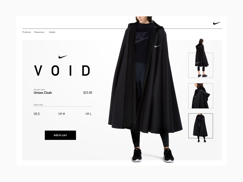 Nike cloak concept nike fashion typography digital design