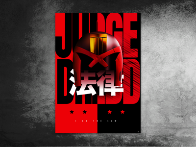 Dredd Drib judge dredd graphics design poster art
