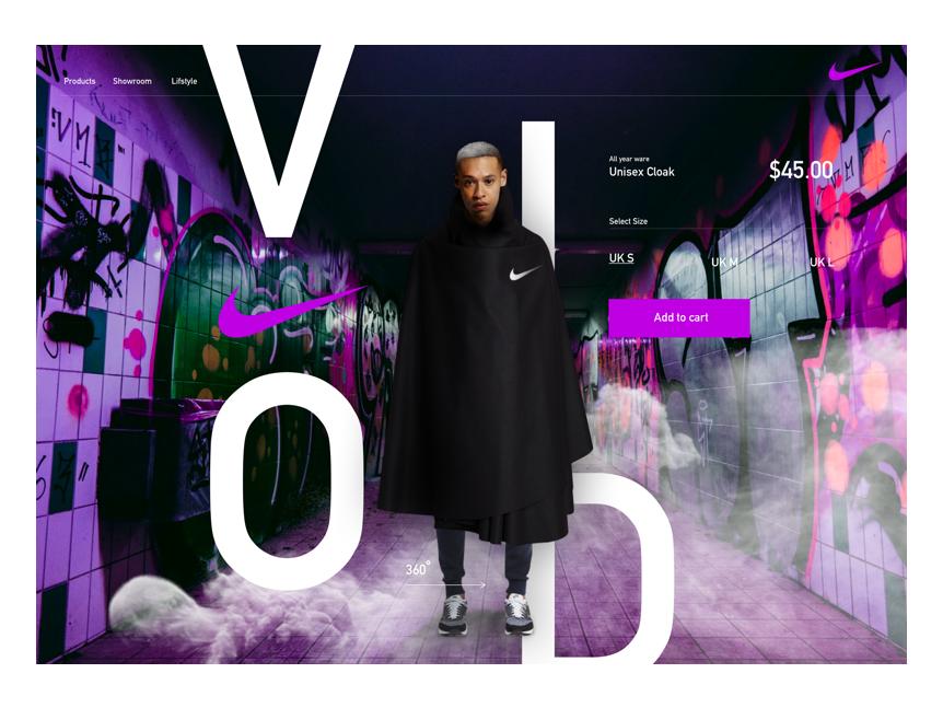 Nike cloak digital ui design