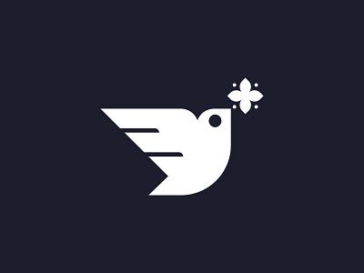 Peace peace flower bird dove mark symbol