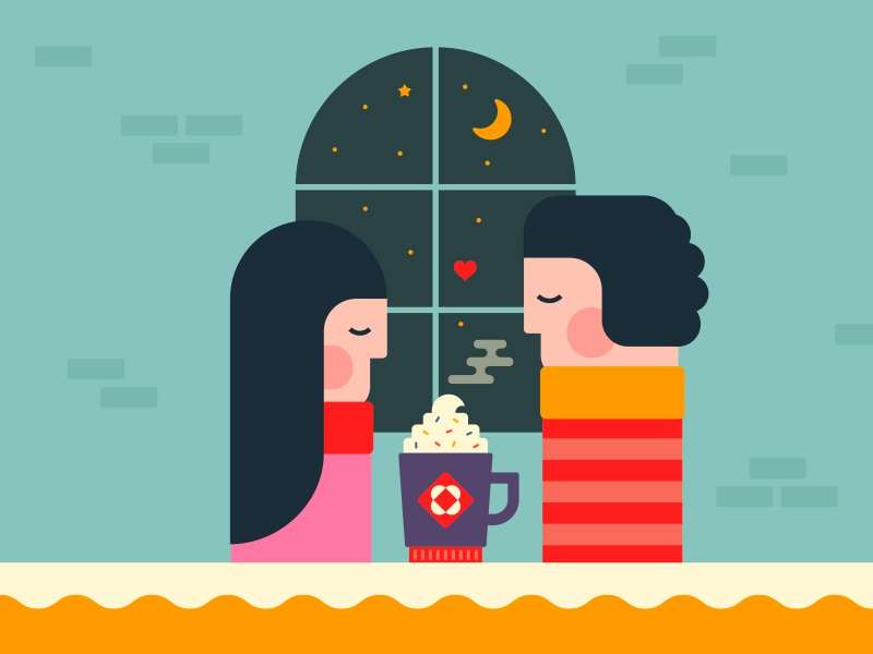 Cappuccino time couple mug love moon cappuccino coffee assemblyapp
