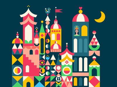 Maryblair moon castle mary blair illustration