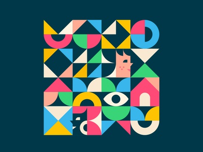 faces going places abstract triangle circle geometric assemblyapp face pattern