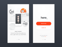 Here One - Onboarding & Sign In