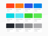 Here One App Style Guide - Colors