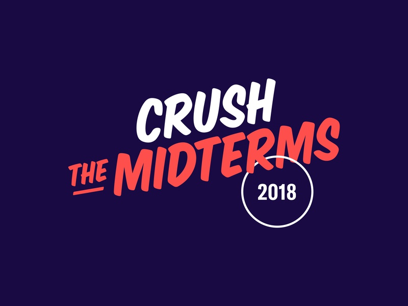 Crush the Midterms typography elections voter vote identity branding logo design logo design graphic design