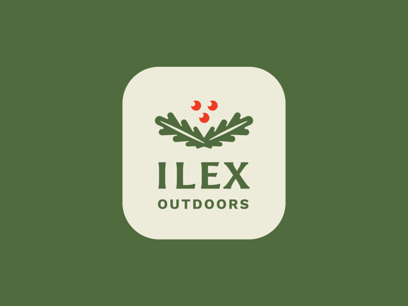 Ilex Outdoors Pt. 2 outdoors landscaping plants plant berries holly illustration vector nature green seal logo design logo branding design graphic design