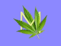 Cannabis Typography - M