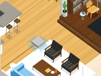 Isometric Floor Plan - detail