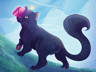 Cat PRINCE character book children animal cat branding procreate illustration concept cartoon character art