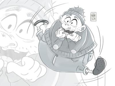 Character design of rapturous fatty