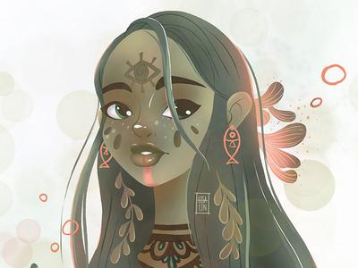 Fantasy beauty. Character Design. iPad Pro + Procreate