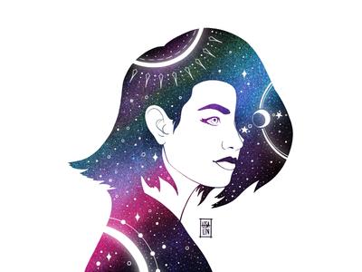 Beauty in stars. iPad Pro + Procreate