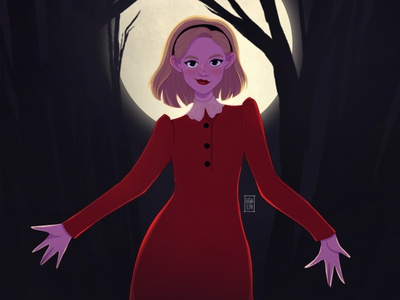 The chilling adventures of Sabrina. Netflix character