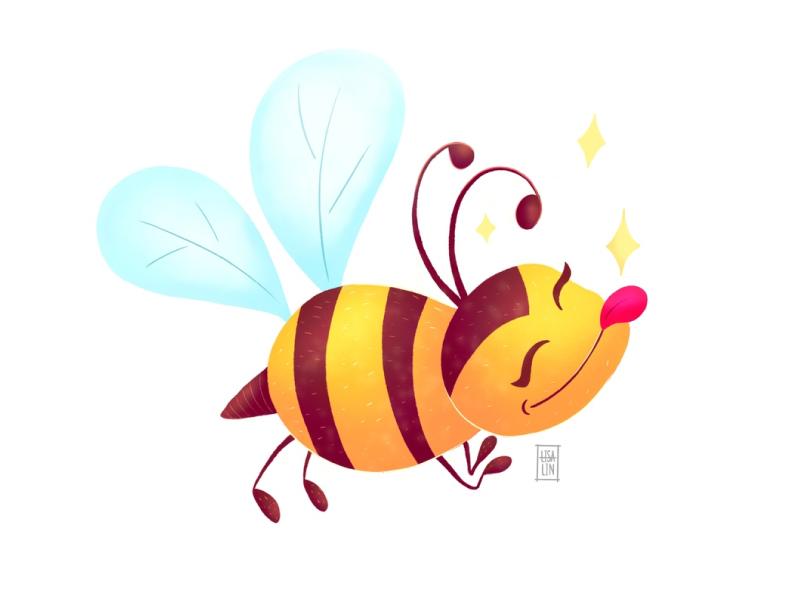 ♦ Sweety honeybee  ♦ children art bee modern ui cartoon character fantasy character design ipad pro cg procreate design concept illustration cute character cartoon art