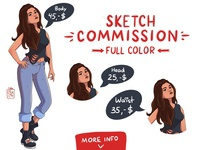 Commissions OPEN! Full color sketches