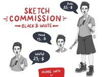 Commissions OPEN! Black & White