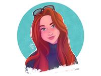 Portrait.  iPad Pro + Procreate