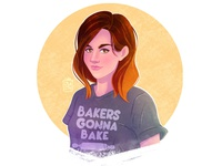 Portrait. Bakers gonna bake!💛