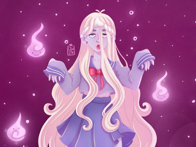 Yokai girl 💥 anime ios sketch branding fantasy cartoon character ipad pro modern cg ui character design cute procreate design concept illustration character cartoon art