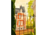 Biarritz Chateau de Gramont_Editorial Illustration