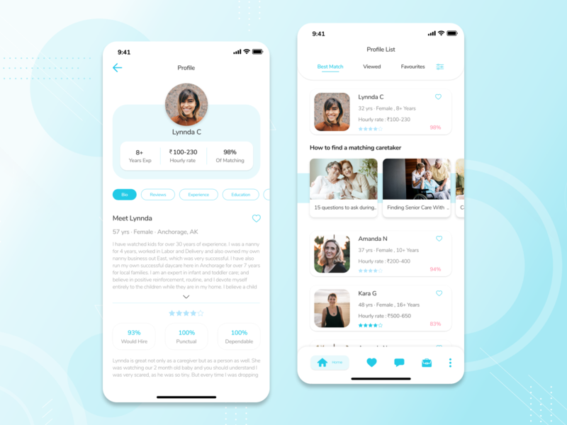 Caretaker Mobile App caregiver caretaker app mobile app design ios design ux ui