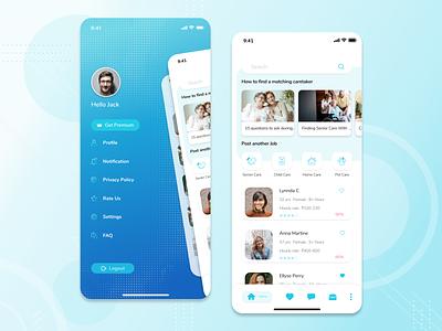 Caretaker Mobile App caretaker caregiver app mobile app design ios design ux ui