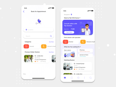 Doctor Appointment Booking App - Medical App medical app medical doctor appointment onlinebooking doctor app doctor onlinebook mobile app design ios design ux ui