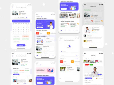 Doctor Appointment Booking App - Medical App hospital booking medical appoinment medical care online booking doctors appoinment app mobile app design ios design ux ui